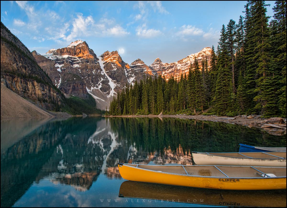 Lake Moraine in Banff National Park