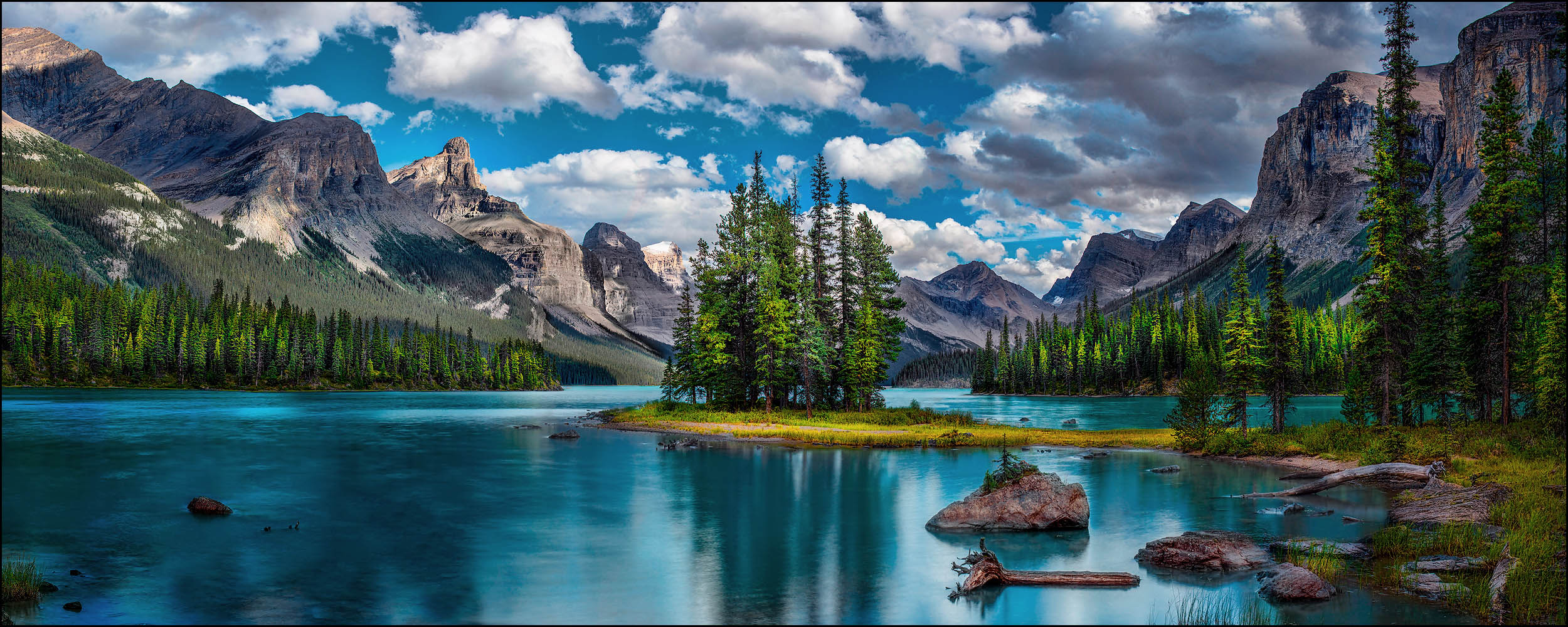 The Spirit Island in Jasper National Park