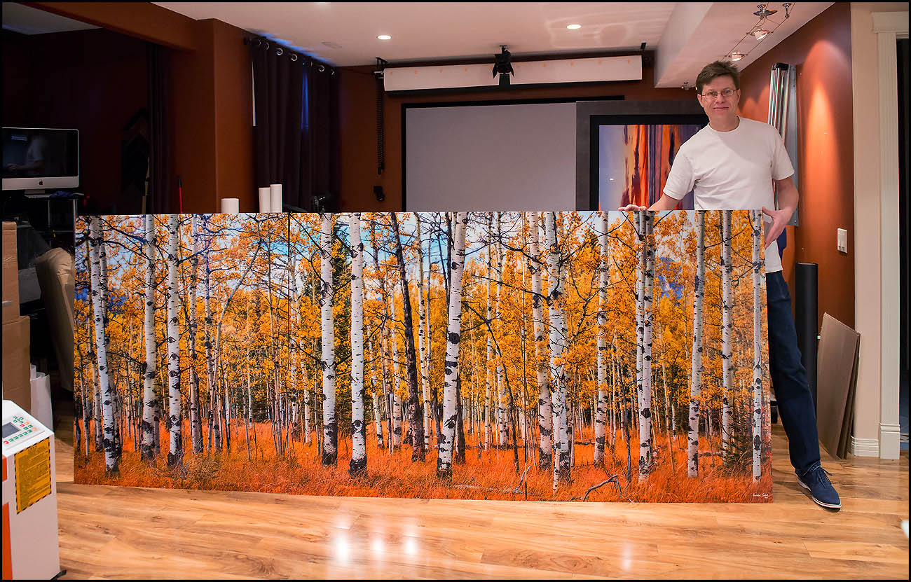 Panoramic fine art acrylic print by Alex Gubski